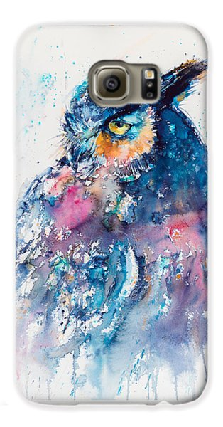 Great Horned Owl Galaxy S6 Case by Kovacs Anna Brigitta