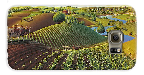 Harvest Panorama  Galaxy S6 Case by Robin Moline