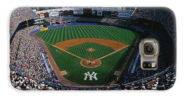 High Angle View Of A Baseball Stadium Galaxy S6 Case