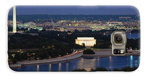 High Angle View Of A City, Washington Galaxy S6 Case by Panoramic Images