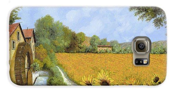 Sunflower Galaxy S6 Case - Il Mulino E I Girasoli by Guido Borelli