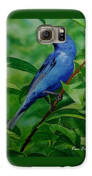 Indigo Bunting Galaxy S6 Case by Ken Everett