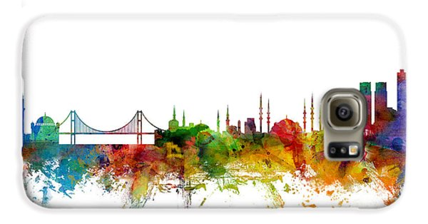 Istanbul Turkey Skyline Galaxy S6 Case by Michael Tompsett
