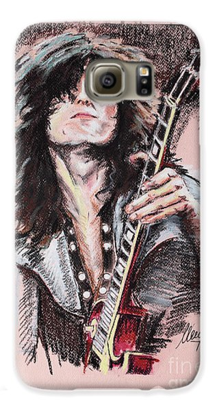 Jimmy Page Galaxy S6 Case by Melanie D