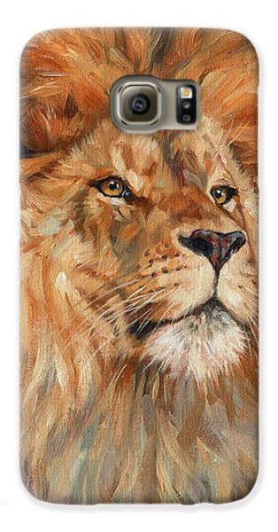 Lion Galaxy S6 Case by David Stribbling
