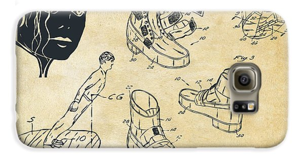 Michael Jackson Anti-gravity Shoe Patent Artwork Vintage Galaxy S6 Case by Nikki Marie Smith