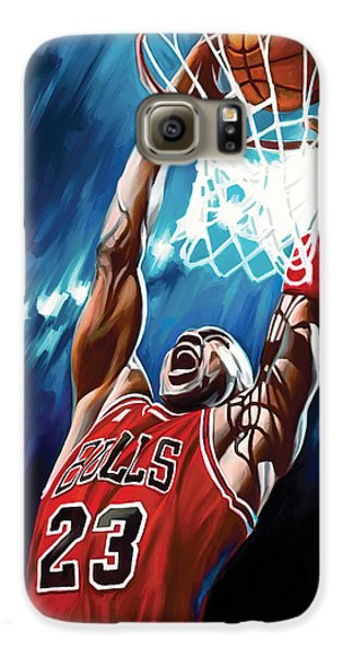 Michael Jordan Artwork Galaxy S6 Case by Sheraz A