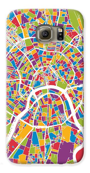 Moscow City Street Map Galaxy S6 Case by Michael Tompsett