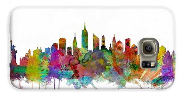 New York City Skyline Galaxy S6 Case by Michael Tompsett
