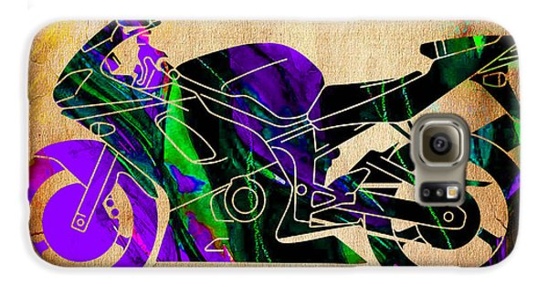 Ninja Motorcycle Painting Galaxy S6 Case by Marvin Blaine