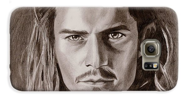 Orlando Bloom Galaxy S6 Case by Michael Mestas