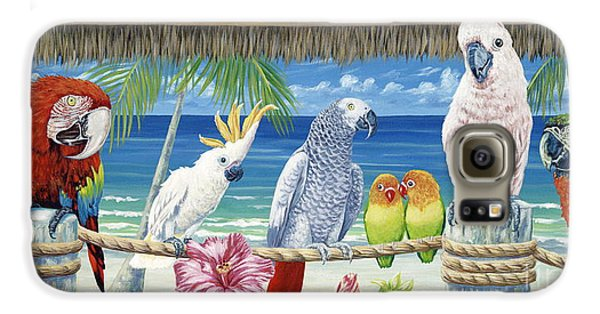 Macaw Galaxy S6 Case - Parrots In Paradise by Danielle  Perry
