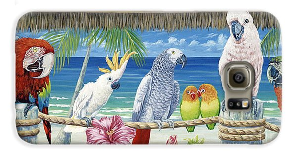 Parrots In Paradise Galaxy S6 Case by Danielle  Perry