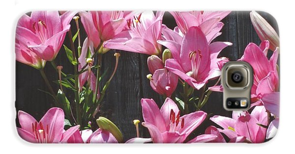 Galaxy S6 Case featuring the photograph Pink Asiatic Lilies by Rod Ismay