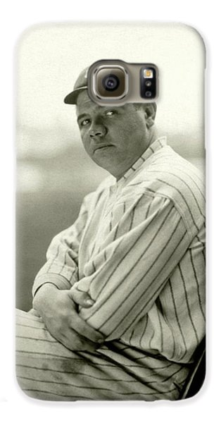 Portrait Of Babe Ruth Galaxy S6 Case by Arnold Genthe