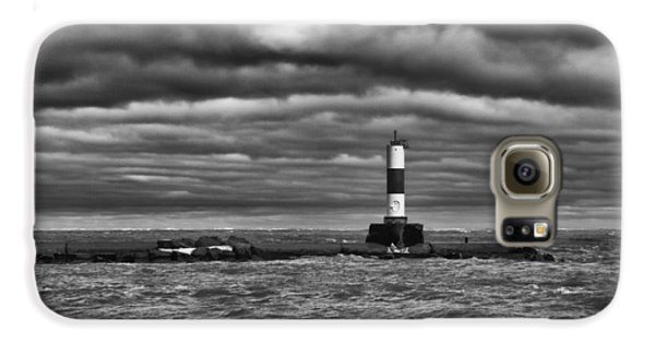 Galaxy S6 Case featuring the photograph Raging Lake Michigan by Ricky L Jones
