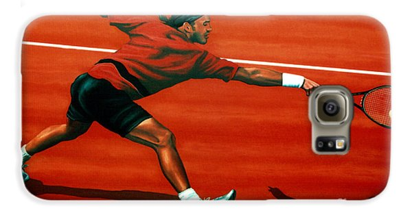 Roger Federer At Roland Garros Galaxy S6 Case by Paul Meijering