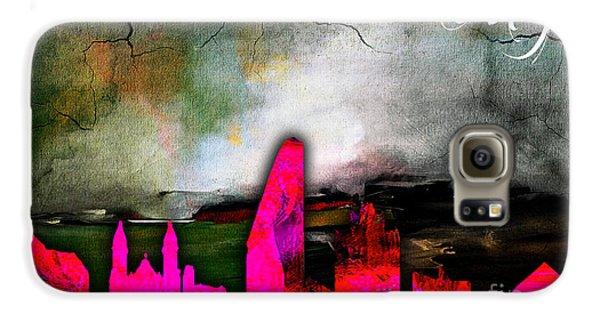 San Jose Skyline Watercolor Galaxy S6 Case by Marvin Blaine