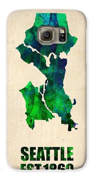 Seattle Watercolor Map Galaxy S6 Case