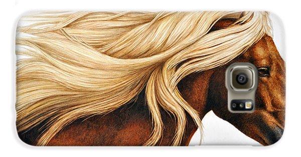 Horse Galaxy S6 Case - Spun Gold by Pat Erickson