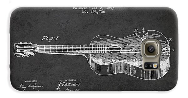 Stratton Guitar Patent Drawing From 1893 Galaxy S6 Case by Aged Pixel