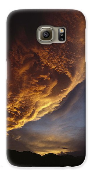 Sunset On Storm Clouds Near Mt Cook Galaxy S6 Case