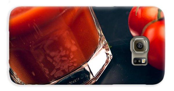 Tomato Galaxy S6 Case - Tomato Juice by Nailia Schwarz