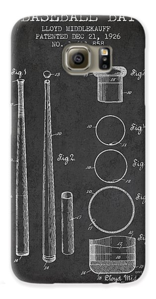 Vintage Baseball Bat Patent From 1926 Galaxy S6 Case by Aged Pixel