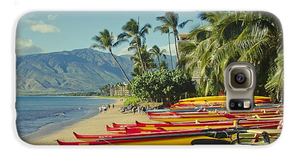 Kenolio Beach Sugar Beach Kihei Maui Hawaii  Galaxy S6 Case