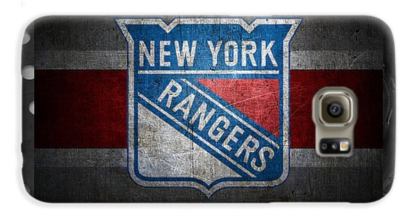 Hockey Galaxy S6 Case - New York Rangers by Joe Hamilton