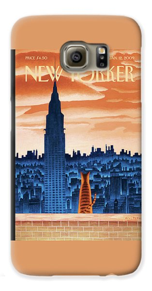 Broadway Galaxy S6 Case - New Yorker January 12th, 2009 by Mark Ulriksen