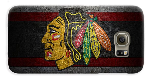 Hockey Galaxy S6 Case - Chicago Blackhawks by Joe Hamilton