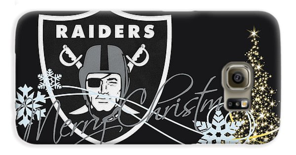 Oakland Raiders Galaxy S6 Case by Joe Hamilton