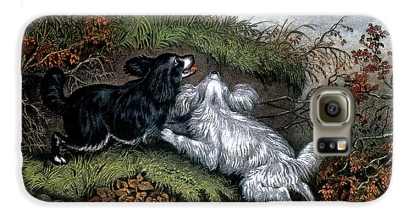 Woodcock Galaxy S6 Case - 1860s Two Spaniel Dogs Flushing by Vintage Images