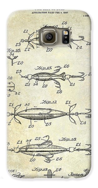 1907 Fishing Lure Patent Galaxy S6 Case