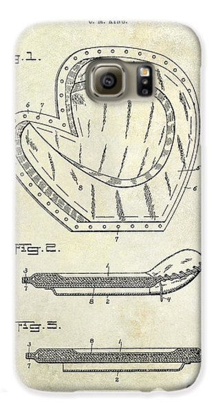 Baseball Gloves Galaxy S6 Case - 1910 Baseball Patent Drawing by Jon Neidert