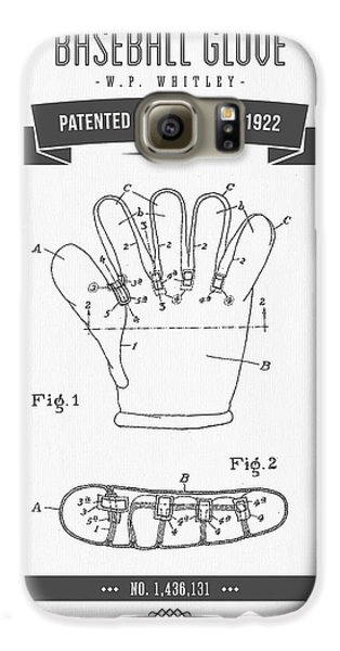 1922 Baseball Glove Patent Drawing Galaxy S6 Case by Aged Pixel