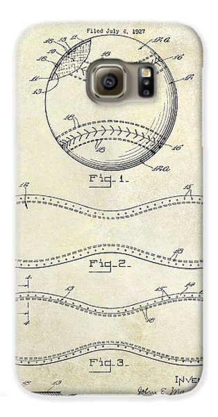 Baseball Gloves Galaxy S6 Case - 1928 Baseball Patent Drawing  by Jon Neidert