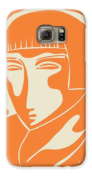 Portraits Galaxy S6 Case - 1928 Woman Face   Orange by Igor Kislev