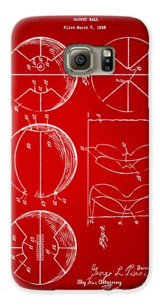 1929 Basketball Patent Artwork - Red Galaxy S6 Case by Nikki Marie Smith