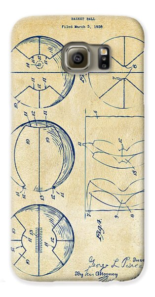 1929 Basketball Patent Artwork - Vintage Galaxy S6 Case by Nikki Marie Smith