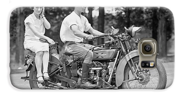 1930s Motorcycle Touring Galaxy S6 Case by Daniel Hagerman