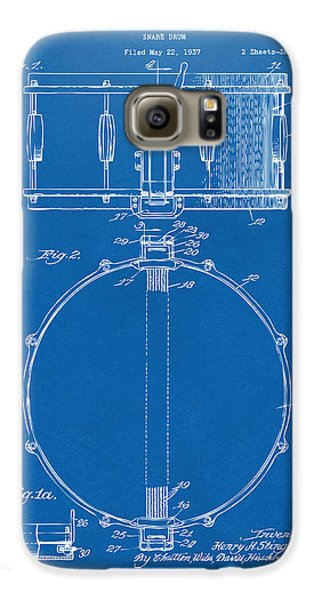 Drum Galaxy S6 Case - 1939 Snare Drum Patent Blueprint by Nikki Marie Smith