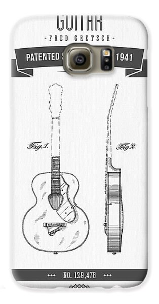 1941 Guitar Patent Drawing Galaxy S6 Case by Aged Pixel