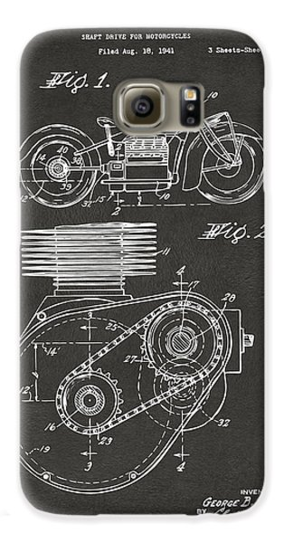 1941 Indian Motorcycle Patent Artwork - Gray Galaxy S6 Case