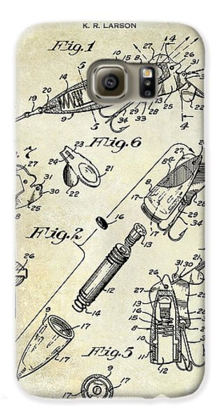 1940 Illuminated Bait Patent Drawing Galaxy S6 Case
