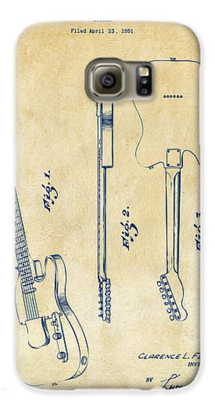 Guitar Galaxy S6 Case - 1951 Fender Electric Guitar Patent Artwork - Vintage by Nikki Marie Smith