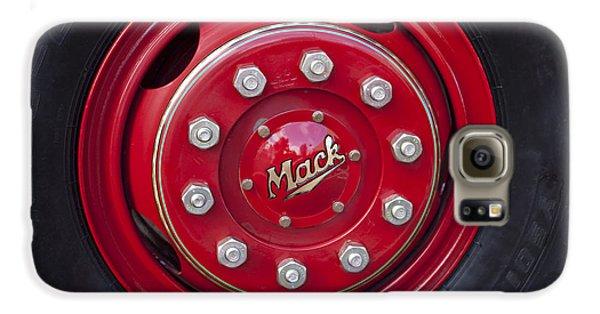 1952 L Model Mack Pumper Fire Truck Wheel Galaxy S6 Case by Jill Reger