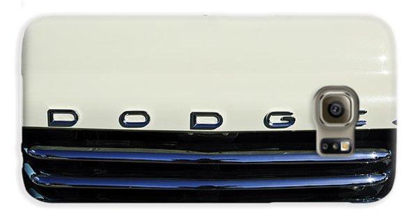 1958 Dodge Sweptside Truck Grille Galaxy S6 Case by Jill Reger