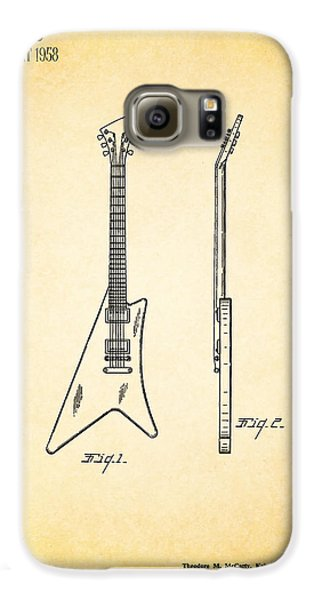 Guitar Galaxy S6 Case - 1958 Gibson Guitar Patent by Mark Rogan